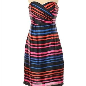 H&M black with neon stripes dress
